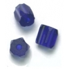 Glass Atlas Beads 6X6mm Cobalt Blue - Strung